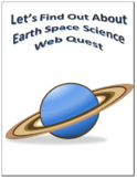Earth Space Science Webquest Scavenger Hunt Common Core Activity