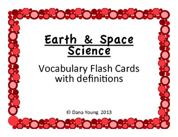 Earth & Space Science::Vocabulary Flash Cards