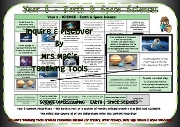 Earth & Space Sciences Rubric - Year 5 - Aust Curric