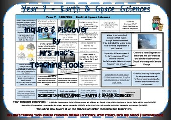 Earth & Space Sciences Rubric - Year 7 - Aust Curric
