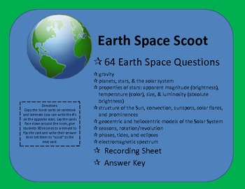Earth Space Scoot (Review Game)