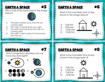 Earth & Space Task Cards