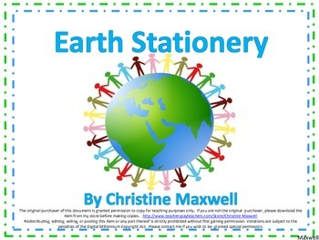 Spring Earth Day Stationery