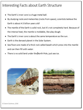 Earth Structure Webquest Scavenger Hunt Science & Geography Common Core Activity