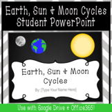 Distance Learning Earth, Sun & Moon Cycles Student PowerPoint Project SOL 3.8a