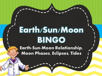 Earth-Sun-Moon, Moon Phases, Eclipses, Tides BINGO REVIEW