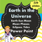 Earth-Sun-Moon, Moon Phases, Eclipses, Tides PPT Power Point