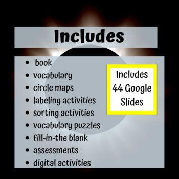 Earth, Sun & Moon Unit for Special Education with complete lesson plans