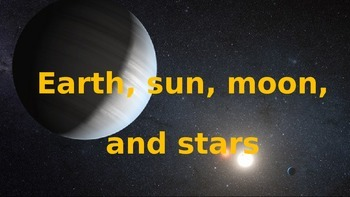 Earth, Sun, Stars and Moon Game