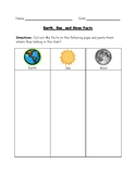 Earth, Sun, and Moon Facts Worksheet