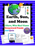 Earth, Sun, and Moon I Have, Who Has? Crossword Puzzle  an