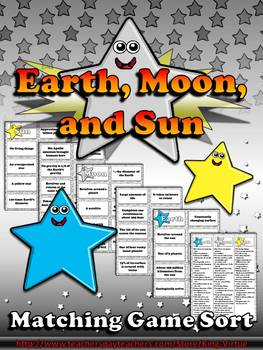 Earth, Sun, and Moon Matching Game Sort - King Virtue