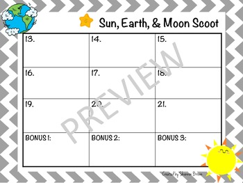 Earth, Sun, and Moon Review Game
