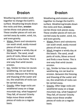 Earth Systems Slow Changes: Weathering and Erosion Unit
