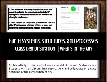 Earth Systems, Structures, and Processes  Class Demon: What's in the AIR?