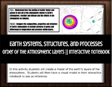 Earth Systems, Structures, and Processes Order Atmospheric Layers Interactive NB