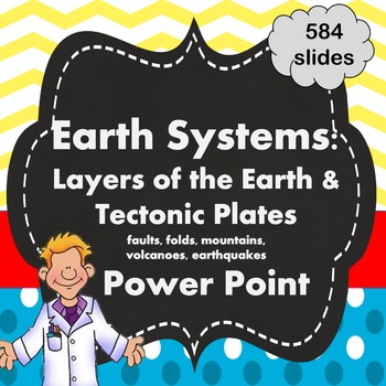 Earth Systems Unit: Layers of the Earth and Tectonic Plates PPT only
