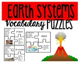 Earth Systems Vocabulary Puzzle