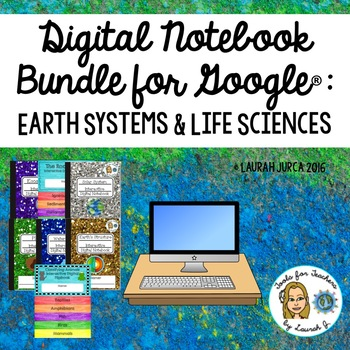 Earth Systems and Life Sciences Google Interactive Digital Notebook Bundle