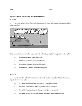 Earth Systems and Patterns Assessment
