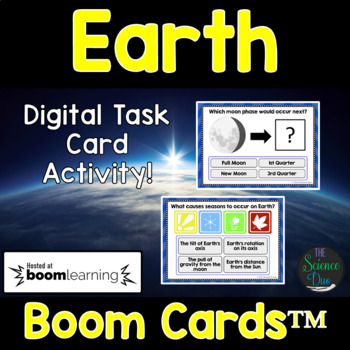 Earth Task Cards - Digital Boom Cards™