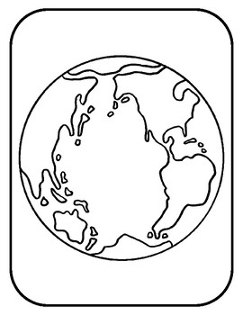 Earth Template for Art Project Earth Coloring Page Earth Outline