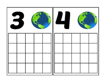 Earth Ten Frame Activity (Numbers 1-20)
