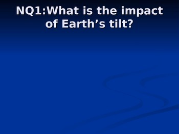 Earth Tilt Notes