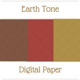 Earth Tone Swirls Digital Paper