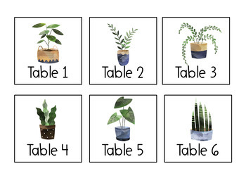 Earth Tones Table Numbers