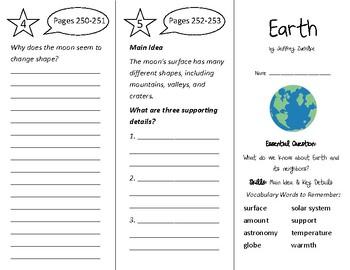 Earth Trifold - Wonders 3rd Grade Unit 3 Week 3