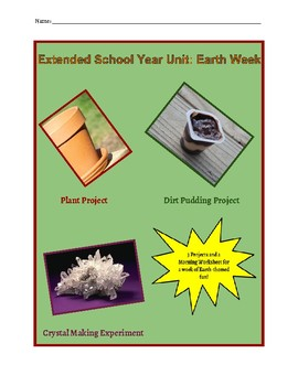 Earth Unit Plan/Materials (Extended School Year)