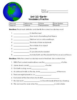 Earth Vocabulary