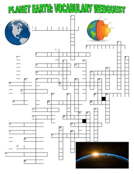 Earth Vocabulary Puzzle Webquest (Earth Day)