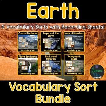 Earth Vocabulary Sort Bundle