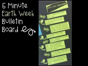Earth Week Challenges Bulletin Board FREEBIE