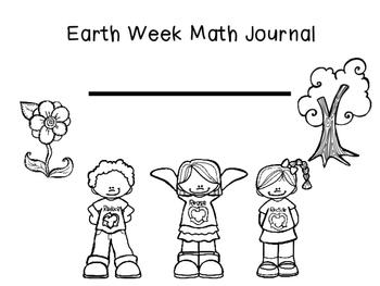 Earth Week Math Journals