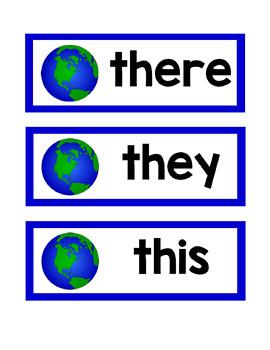 Earth Word Wall