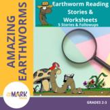 Earthworm Reading Stories & Worksheets! Grades 2-3
