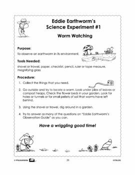 Earthworm Science Experiments Grades 2-3