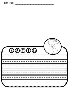 Earth Writing Template