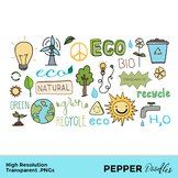 Earth and Energy - Doodle Clipart - Transparent PNGs