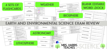 Earth and Environmental Science Final Exam Review Flashcards
