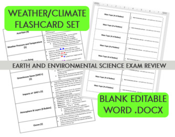 Weather Climate Flashcards - Earth and Environmental Science Final Exam Review