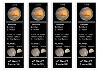 Earth and Mars Bookmarks