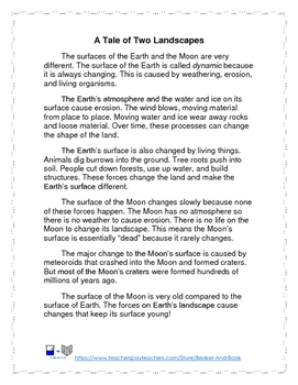 Earth and Moon: Comparing Landscapes