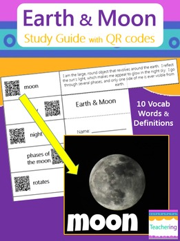 Earth and Moon Study Guide (with QR Codes)