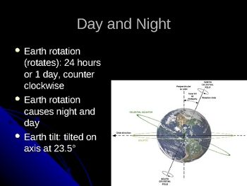 Earth and Moon Relationship Notes Powerpoint