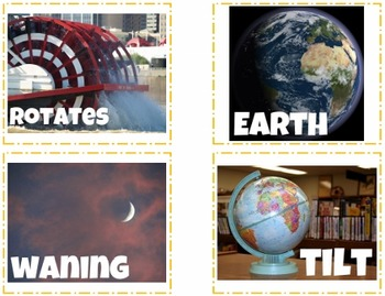 Earth and Moon Task Cards {with PHOTOS for differentiation}