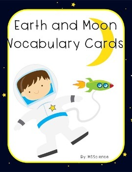 Earth and Moon Vocabulary Cards